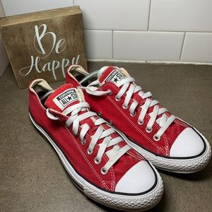 Red converse all star sneakers women's size 11